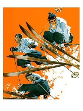 """""""Ski Jumpers,""""February 26, 1938 by Ski Weld"""