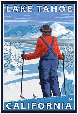 Skier Admiring, Lake Tahoe, California