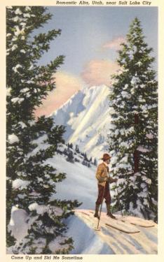 Skier at Alta, Utah