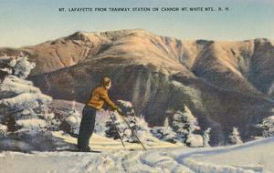 Skier at Mt. Lafayette, New Hampshire