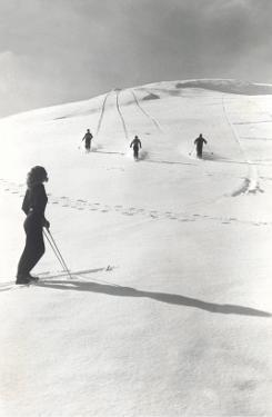 Skiers Making Tracks