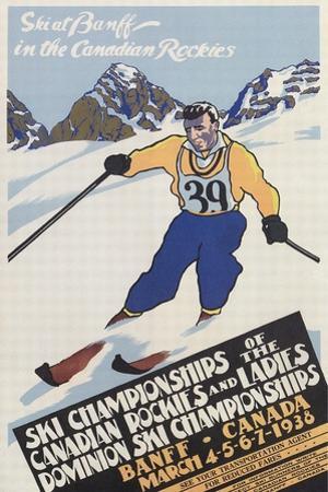 Skiing at Banff, Alberta