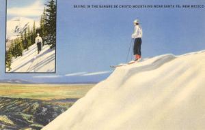 Skiing in the Sangre de Cristo Mountains, Santa Fe, New Mexico