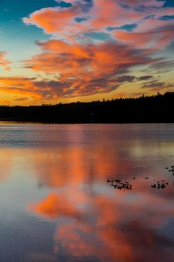 Skilak Lake, Alaska, the Aleutian Mountain Range