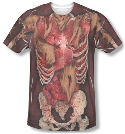 Skinny Zombie Costume Tee