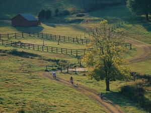 Bikers on Dirt Road, Pocahantas County, West Virginia by Skip Brown