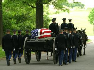 Caisson and Honor Guard on the Way to a Burial Site by Skip Brown