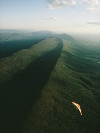 Hang Glider over Massanutten Mountain, Shenandoah Valley by Skip Brown
