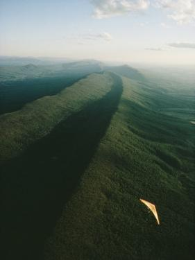 Hang Glider over Massanutten Mountain, Shenandoah Valley by Skip Brown