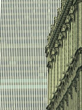 New York Stock Exchange Building and World Trade Center in Background by Skip Brown