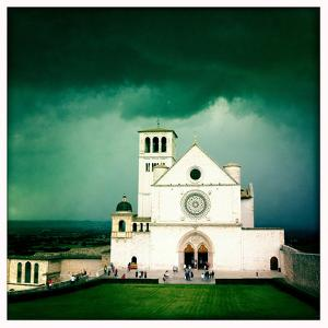 Storm Clouds Above the Basilica of San Francis of Assisi by Skip Brown