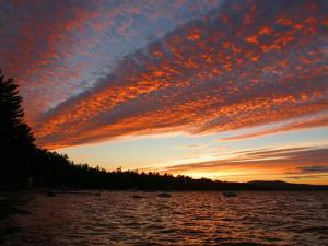 Sunset on Sebago Lake by Skip Brown