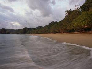 The Surf Upon the Beach in Manuel Antonio National Park in Costa Rica by Skip Brown