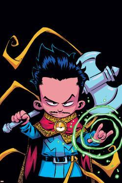 Doctor Strange Annual #1 Panel Featuring Dr. Strange by Skottie Young