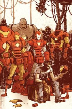 Iron Man & The Armor Wars No.1 Cover: Stark and Tony by Skottie Young