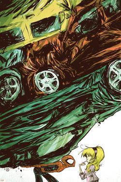 Marvel Adventures Spider-Man No.54 Cover: Spider-Man Fighting by Skottie Young