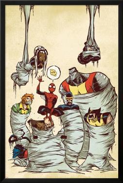 Marvel Adventures Spider-Man No.59 Cover: Spider-Man by Skottie Young