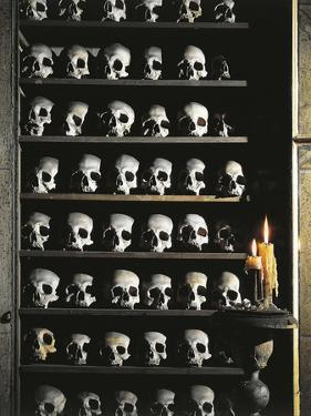 Skulls, Crypt Detail, Church of St. Mary of Prayer and Death, Rome, Italy