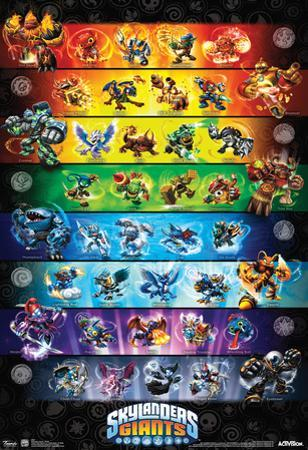 Skylanders Giants Group Video Game Poster