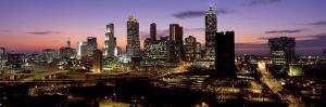 Skyline at Dusk, Cityscape, Skyline, City, Atlanta, Georgia, USA