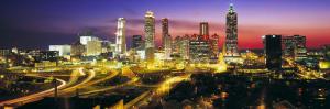 Skyline, Evening, Dusk, Illuminated, Atlanta, Georgia, USA