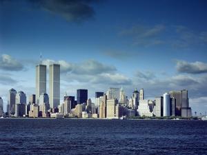 Skyline of Lower Manhattan before the 9/11 Terrorist Attacks