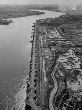 Skyline View of the St. Lawrence Seaway Power Project