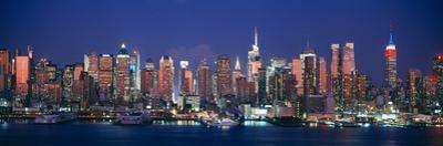 Skylines at Dusk, Manhattan, New York City, New York State, USA