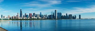 Skylines at the waterfront, Lake Michigan, Chicago, Cook County, Illinois, USA