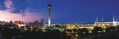 Skyscraper in a City, San Antonio, Texas, USA