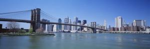 Skyscrapers in a City, Brooklyn Bridge, New York, USA