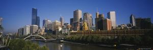 Skyscrapers in Yarra River, Melbourne, Victoria, Australia
