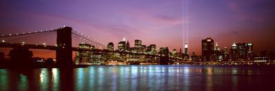 Skyscrapers Lit Up at Night, World Trade Center, Lower Manhattan, Manhattan, New York City, New ...