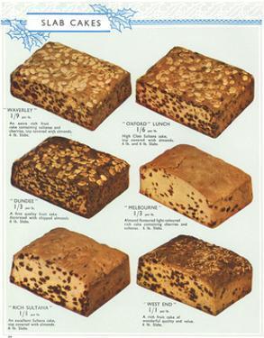 Slab Cake Selection 1937