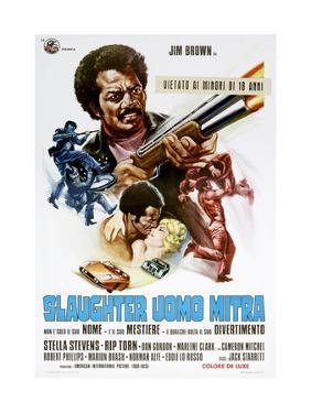 Slaughter, (aka Slaughter Uomo Mitra), Italian poster, Jim Brown, Stella Stevens, 1972