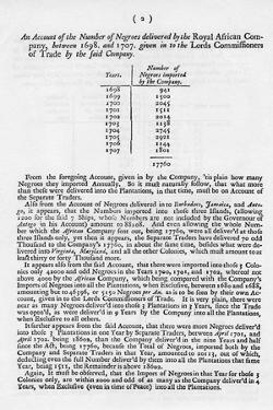 Slavery Accounts, 1698-1701
