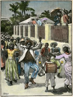 Slavery Emancipation Festival in Barbados, C1880