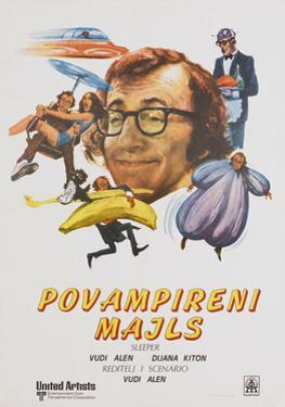Sleeper, (aka Povampireni Majls), Yugoslavian poster, Woody Allen, 1973