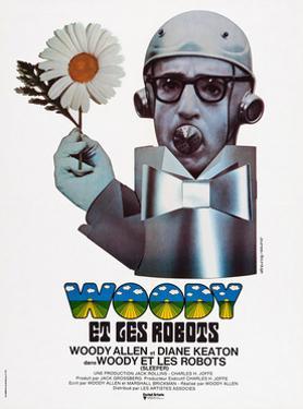 Sleeper, (aka Woody Et Les Robots), French Poster Art, Woody Allen, 1973