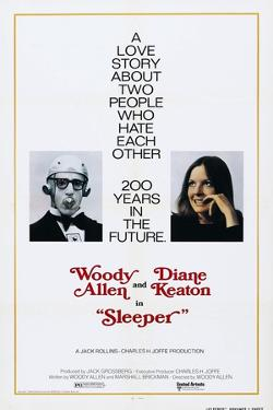 Sleeper, US poster, Woody Allen, Diane Keaton, 1973
