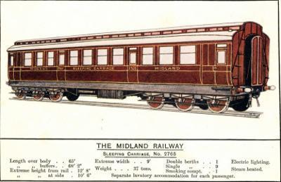 Sleeping Carriage No. 2765, Midland Railway