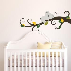 Sleeping Koala and Tree Branch