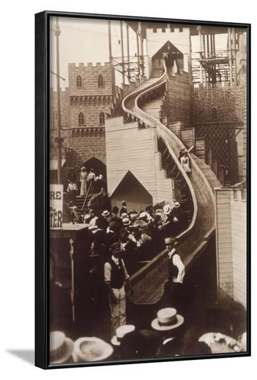 Slide at Sydenham, 1903--Framed Photographic Print