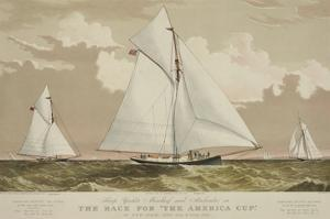 "Sloop Yachts Mischief and Atalanta in the Race for ""The America Cup"""
