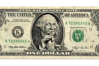 US Dollar Bill, George Washington Parody