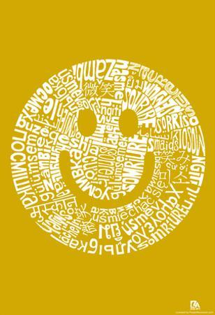 Smile Languages Text Poster