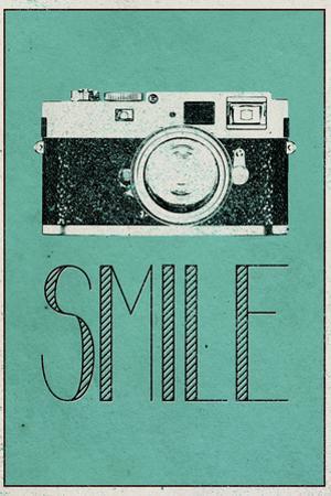 Smile Retro Camera Plastic Sign