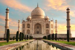 The Magnificent Taj Mahal at A Glorious Sunrise by Smileus