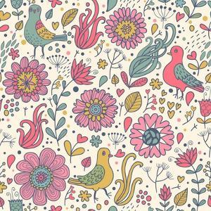 Pigeons in Flowers by smilewithjul