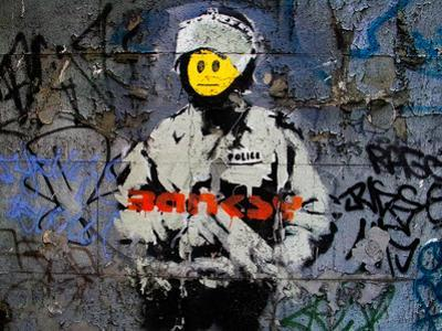 Smiley Face Happy Police Graffiti